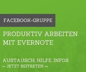 Facebook-Gruppe Produktiv arbeiten mit Evernote