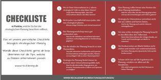 Die Strategieexperten-Checkliste Strategische Planung