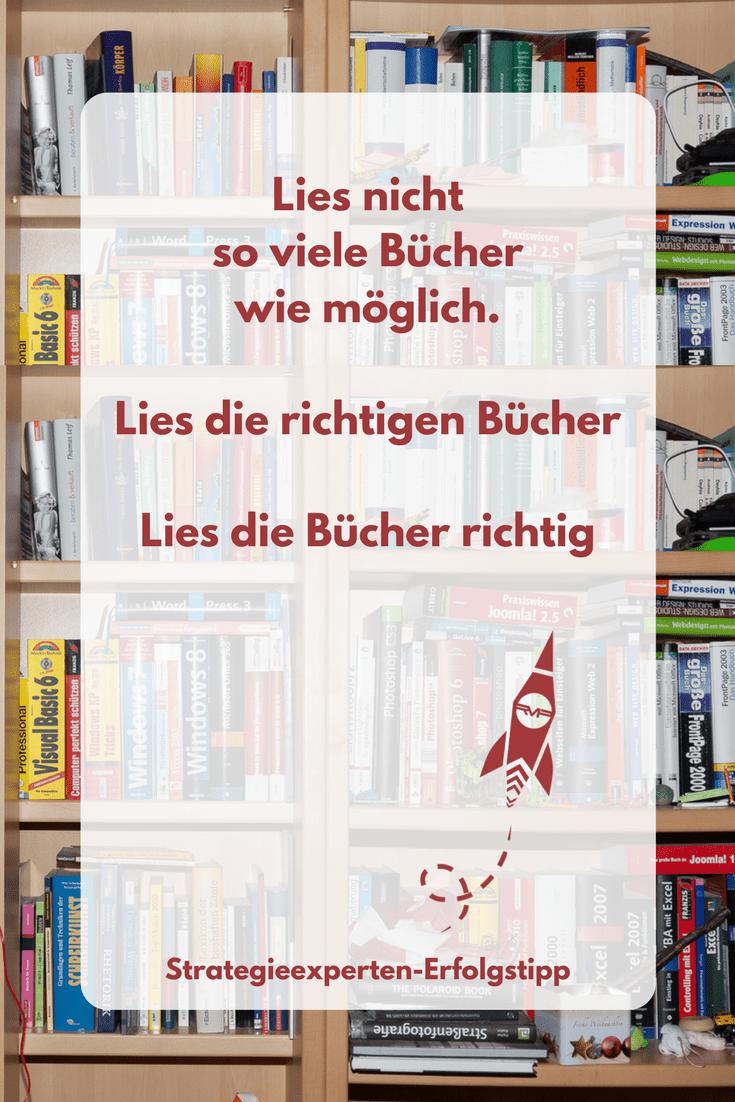 Lies die richtigen Bücher und lies die Bücher richtig