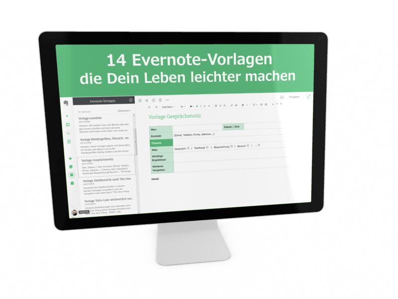 14 Evernote-Vorlagen die Dir Dein Leben leichter machen
