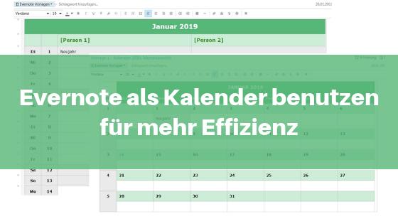 Evernote als Kalender