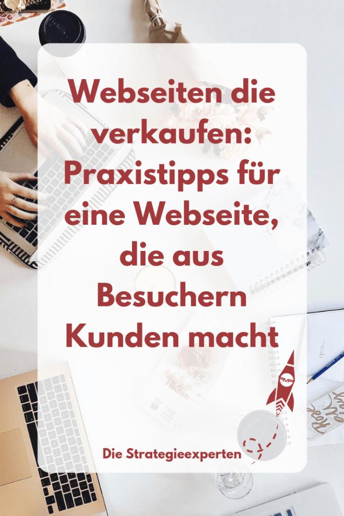 Webseiten die verkaufen - Praxistipps für eine Webseite, die aus Besuchern Kunden macht