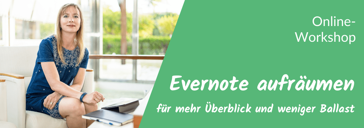 Online Workshop Evernote aufräumen
