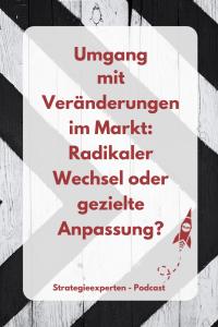 Umgang mit Veränderungen im Markt: Radikaler Wechsel oder gezielte Anpassung?