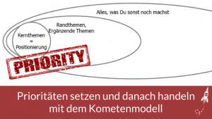 Prioritäten setzen und danach handeln mit dem Kometenmodell