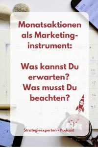 Monatsaktionen als Marketinginstrument - Was kannst Du erwarten? Was musst Du beachten?